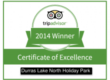 Durras North award the Trip Advisor Certificate of Excellence